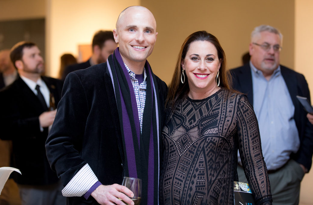 Scott Parman And Jamie Meltzner Post For A Photo At Artnow 2018