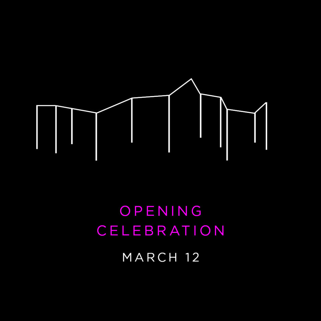 "An image with a black background features the Oklahoma Contemporary logo and the words: ""Opening Celebration: March 13-15"""