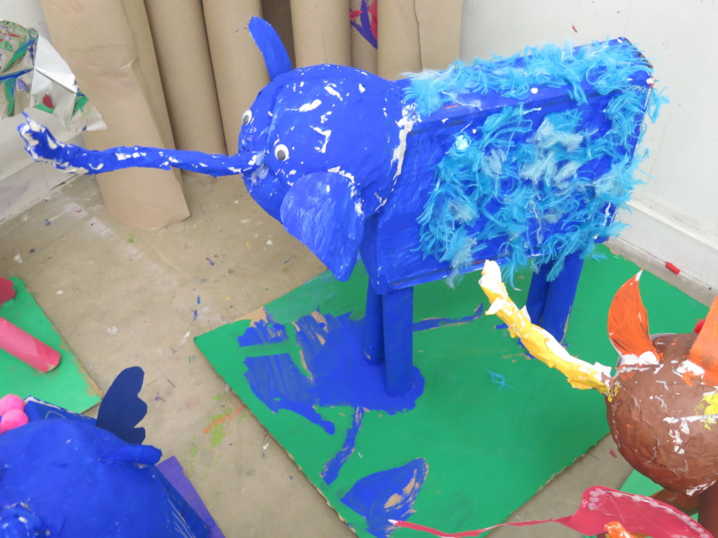Large sculpture of a creature