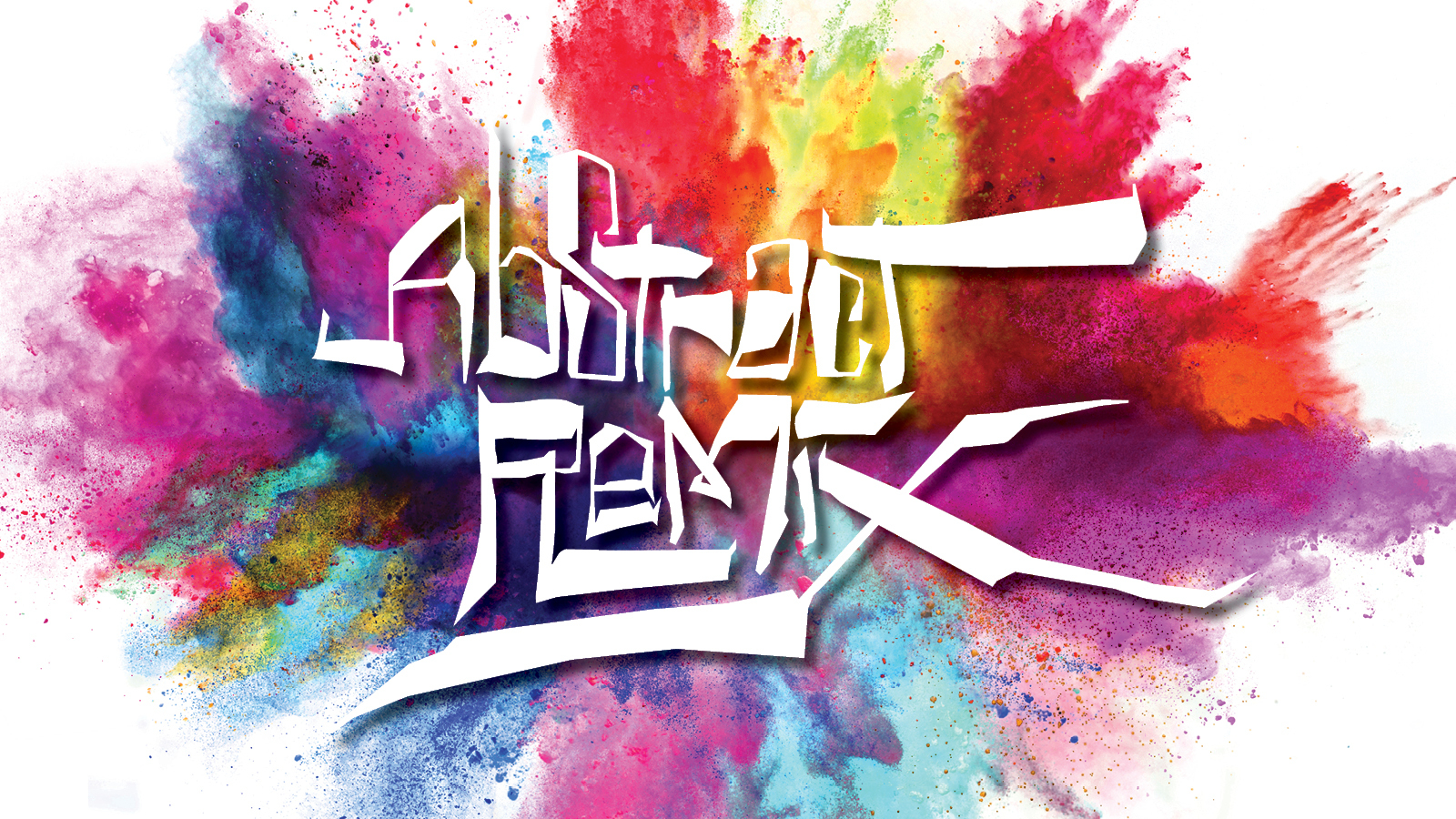 Logo for Abstract Remix with color splash behind it