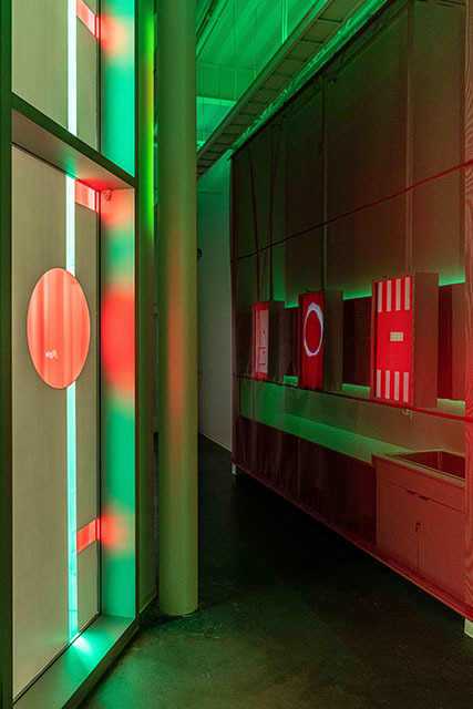 light shines through translucent exhibition art