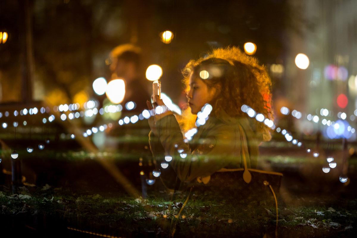Whiteout in Madison Square Park | Photo courtesy of Moorehart Photography.