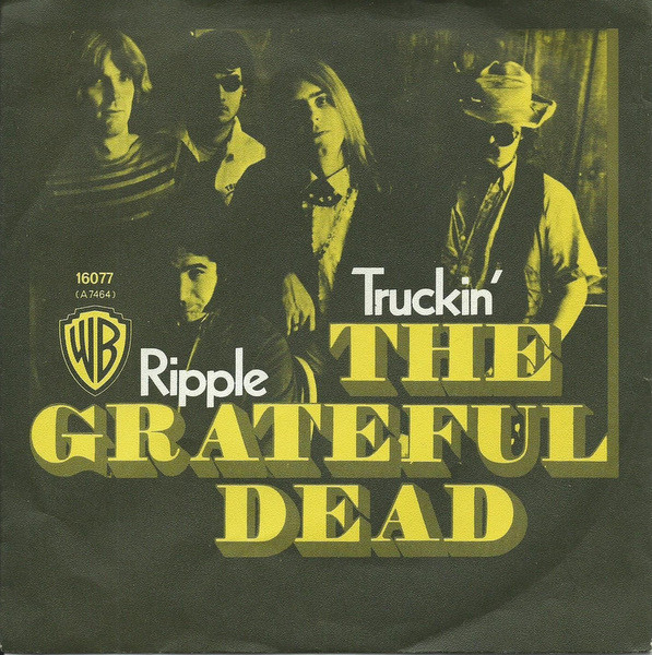 Album artwork depicts a group of figures with yellow text treatment: The Grateful Dead