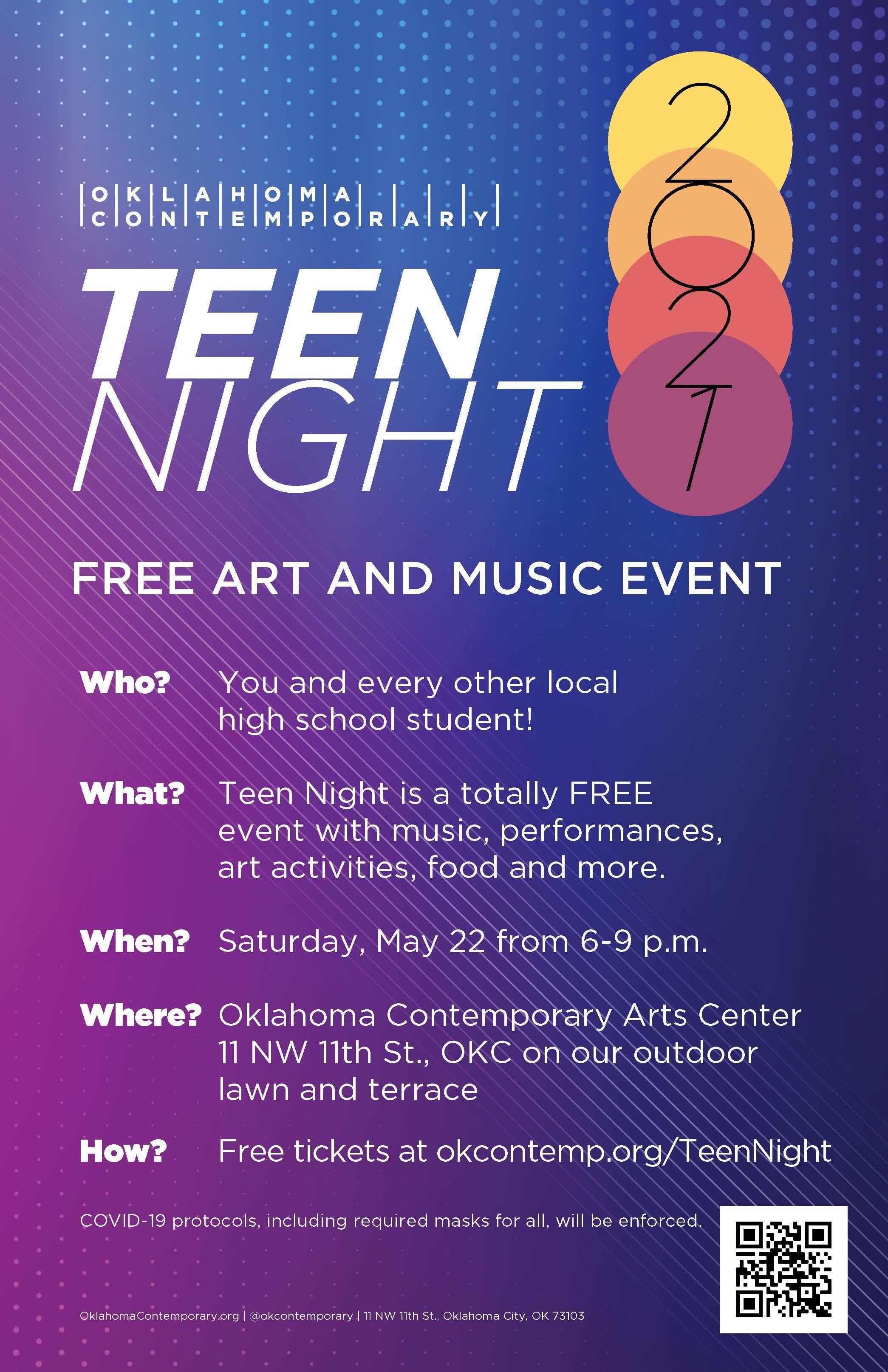 TAC Teen Night 11x17 poster 2021